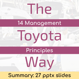 The Toyota Way (Summary) - 27 pptx slides
